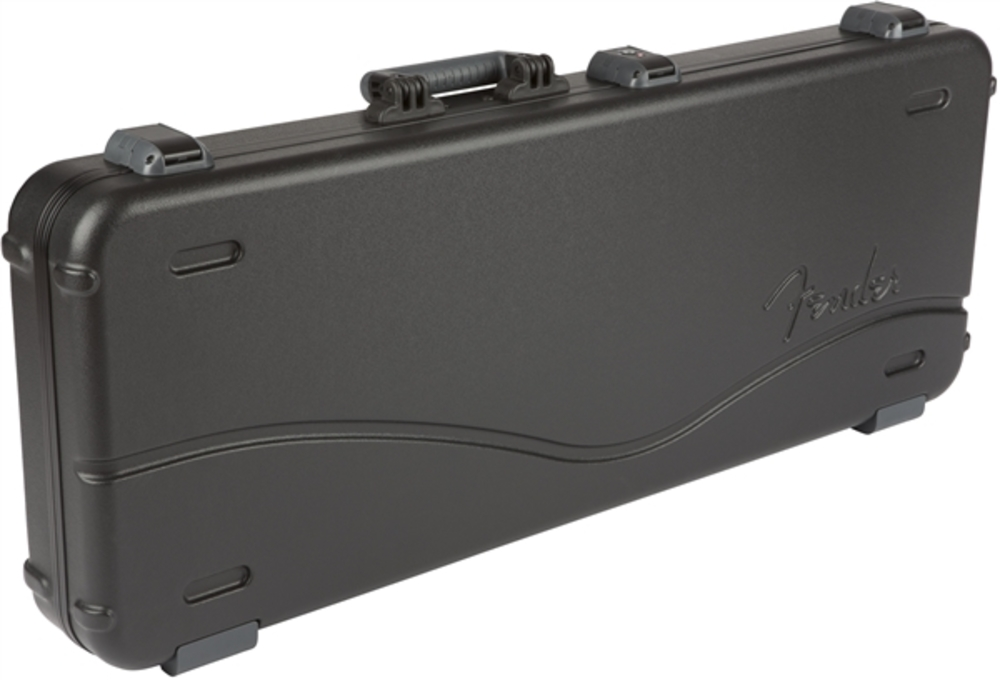 guitars cases fender deluxe molded stratocaster telecaster case black. Black Bedroom Furniture Sets. Home Design Ideas
