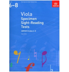 ABRSM Viola Sight-Reading from 2012 Grades 6-8