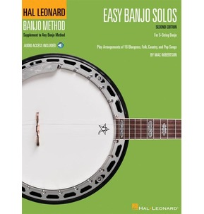 Easy Banjo Solos For 5-String Banjo - (Book/Online Audio)