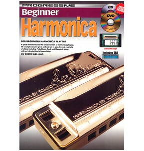 Progressive Beginner Harmonica - Book/CD/DVD/Free Chart