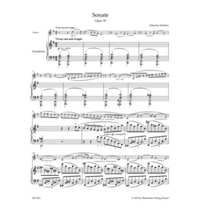 Brahms Sonata for Violin and Piano G major op. 78 (Barenreiter)