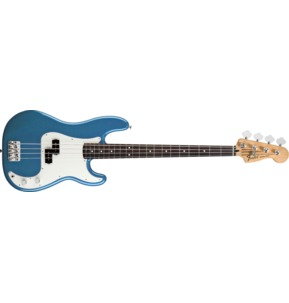 Fender Standard Precision Bass, Rosewood Fingerboard, Lake Placid Blue, 3-Ply Parchment Pickguard