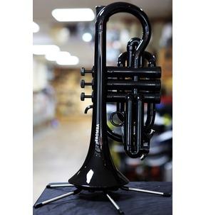 Tromba Plastic Cornet with Hard Case Black