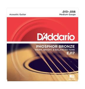 D'Addario EJ17 Phosphor Bronze, Medium, 13-56 Acoustic Strings