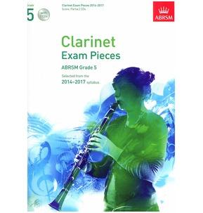 Clarinet Exam Pieces Score/Part/CD 2014-2017 ABRSM Grade 5