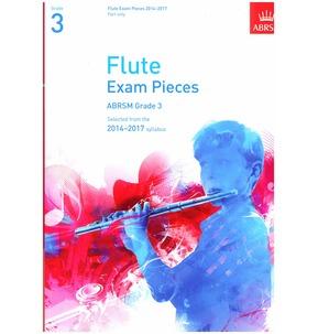 Flute Exam Pieces Part Only 2014-2017 ABRSM Grade 3