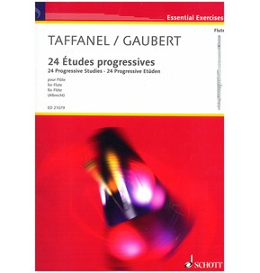 24 Progressive Studies for Flute: Taffanel/Gaubert