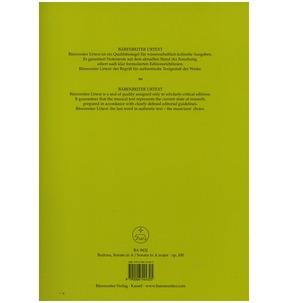 Brahms: Sonata for Violin & Piano A Major Op. 100 (Barenreiter Edition)