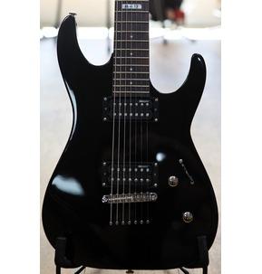 ESP LTD M-17 BLK Black 7-String Guitar