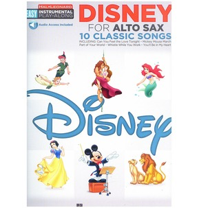 Alto Sax Easy Instrumental Play-Along: Disney (Book/Online Audio)