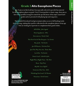 Grade 3 Alto Saxophone Pieces (Book/Audio Download)