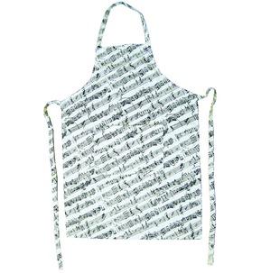 White/Black Manuscript Apron
