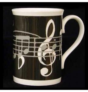 Black Music Note Mug