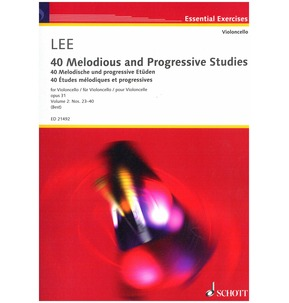 Lee: 40 Melodious & Progressive Studies for Cello