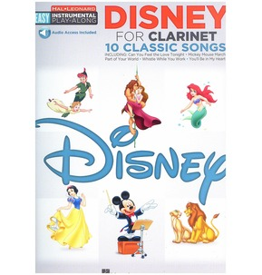 Clarinet Easy Instrumental Play-Along: Disney (Book/Online Audio)