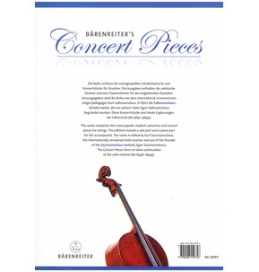 Barenreiter's Concert Pieces: The Infant Paganini for Cello & Piano