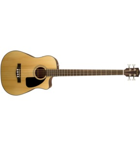 Fender CB-100CE Bass, Natural Electro Acoustic Bass