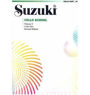 Suzuki Cello School Cello Part, Volume 8 (Revised)