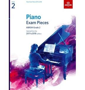 ABRSM Piano Exam Pieces: 2017-2018 (Grade 2) - Book Only