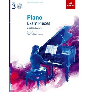 ABRSM Piano Exam Pieces: 2017-2018 (Grade 3) - Book And CD
