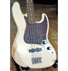 Fender Flea Jazz Bass, Road Worn Faded Shell Pink, Rosewood