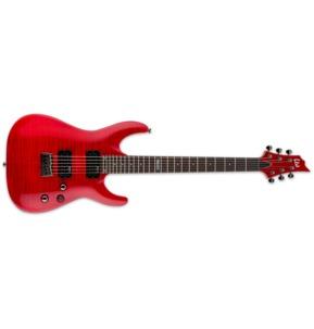 ESP LTD H-101FM STR See-Thru Red Guitar