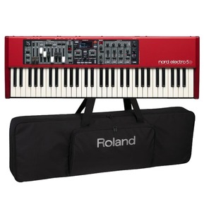 Nord Electro 5D 61 Semi Weighted Keyboard with Free Roland Gig Bag