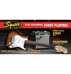 Fender Squier Affinity Strat & Frontman 10G Amp, Brown Sunburst