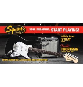 Fender Squier Affinity Strat & Frontman 10G Amp, Black