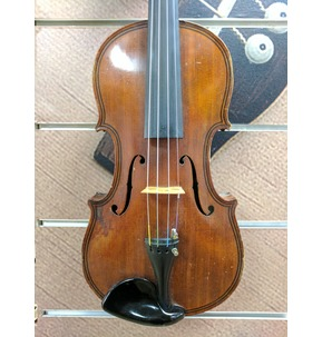 German Workshop Violin c. 1900 Quilted Maple