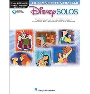 Disney Solos Clarinet/Tenor Saxophone - Book and online audio access
