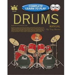 Complete Learn to Play Drums Manual Book & 2 CDs Beginner to Professional Level