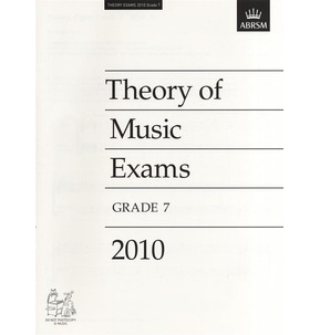2010 Theory of Music Exams Papers - ABRSM Grade 7