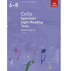 Cello Specimen-Sight Reading Tests from 2012 Grades 6-8