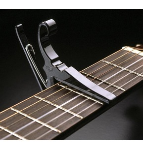 Kyser KG6 Acoustic Guitar Quick Change Capo Black