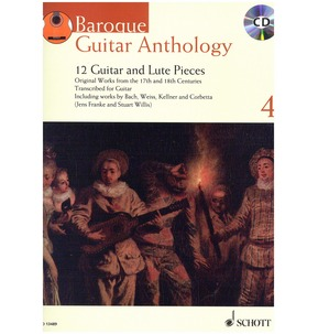 Baroque Guitar Anthology Book 4 (12 Pieces/Grades 7-8)