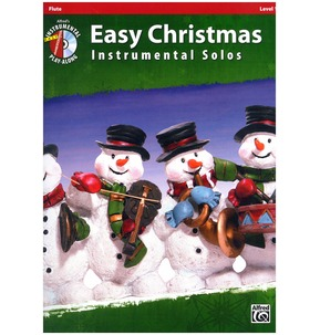 Easy Christmas Instrumental Solos Flute Book/CD