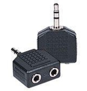 1 x 3.5mm Stereo Plug  2 x 3.5mm Stereo Sockets