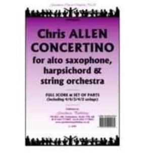 Chris Allen - Concertino - Alto Sax, Harpsichord & Orchestra