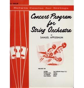 Concert Program For String Orchestra